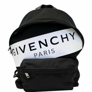 GIVENCHY Paris Nylon Backpack Bag Black